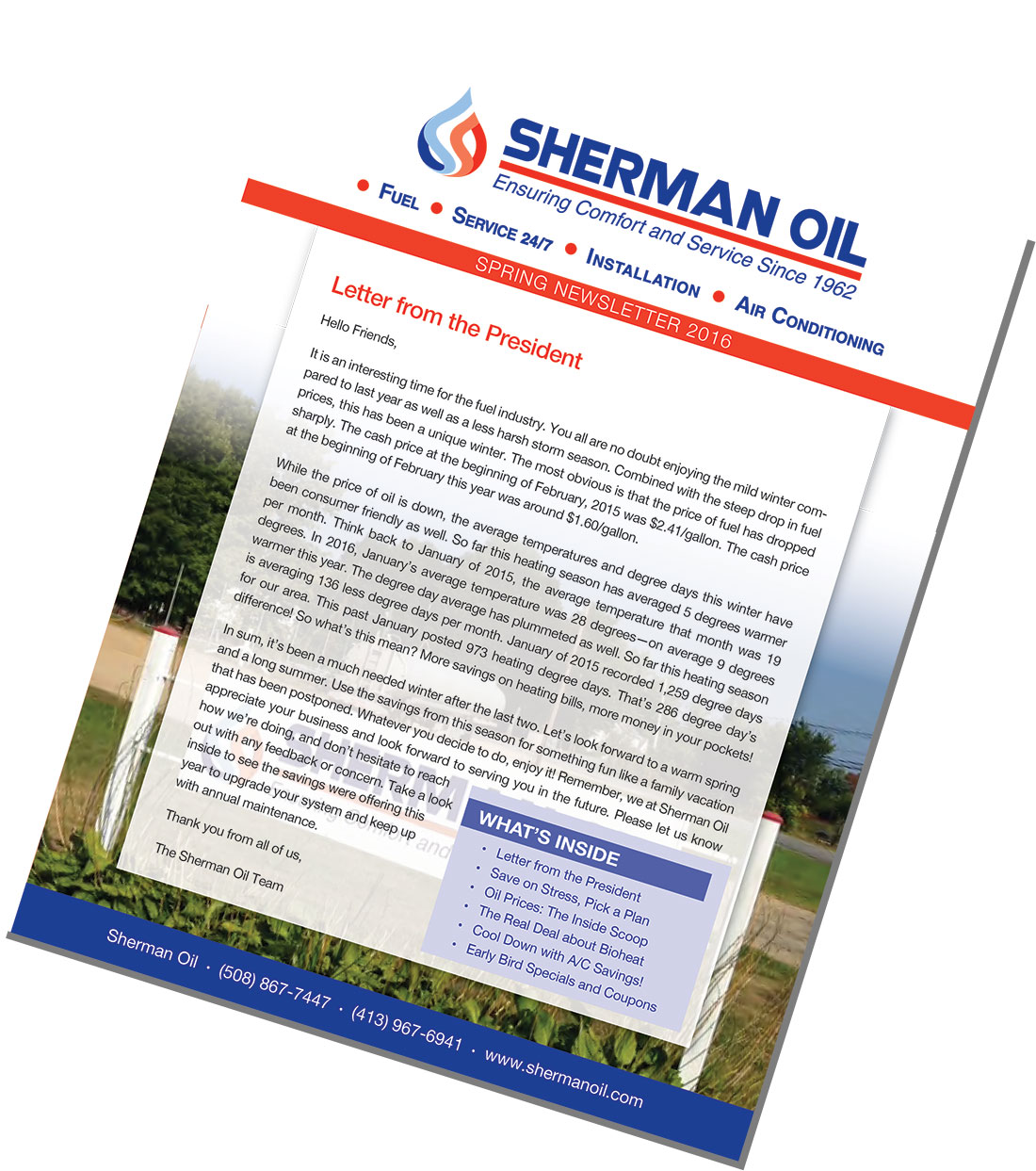 Sherman Oil Newsletters